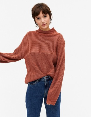 Monki Libby knitted jumper in rust
