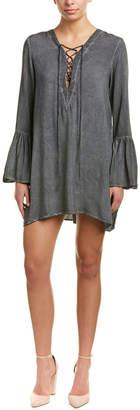 Jane Plus One Lace-Up Shift Dress