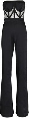 Alexis Lauren Strapless Lace Wide-Leg Jumpsuit