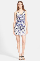 Parker &Oceanside& Print Silk Dress