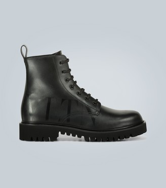 Valentino VLTN leather combat boots