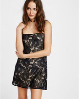 Express embroidered flower cami dress