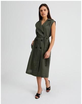 Basque Organic Linen Shirt Dress