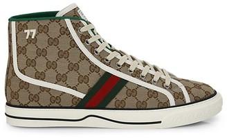 Gucci Men's Tennis 1977 High-Top Sneakers