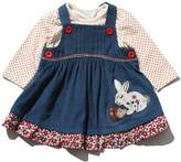 M&Co Bunny cord pinny dress and top set
