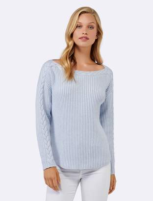 Ever New Estelle Cable Sleeve Sweater