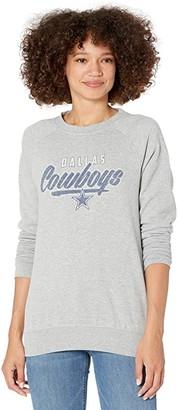 Dallas Cowboys Dallas Cowboys Brisa Fleece Crew (Athletic Gray) Women's Clothing