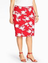 Talbots Rose Silhouette Pencil Skirt