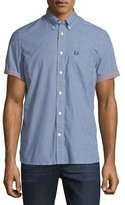 Fred Perry Gingham Short-Sleeve Sport Shirt