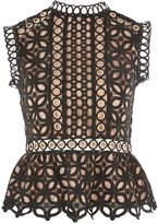 Topshop Eyelet Lace Shell Blouse