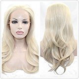 SiYi Blonde Lace Front Glueless Wig Long Synthetic Heat Resistant Cosplay Hair Wig for Women