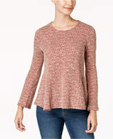 Style&Co. Style & Co Petite Printed Knit Swing Top, Created for Macy's