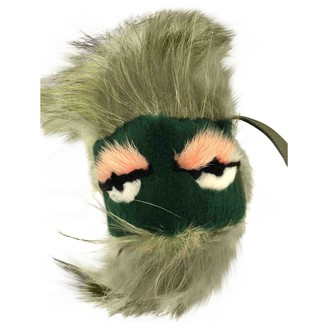 Fendi Bag Bug Green Fur Bag charms