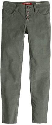 UNIONBAY Girls 7-16 Skinny Ankle Corduroy Pants