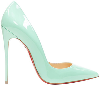 Christian Louboutin So Kate Turquoise Patent leather Heels