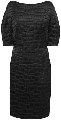 Talbot Runhof Poise Cotton-blend Satin-jacquard Dress
