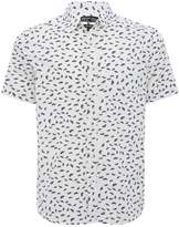 M&Co Fan print short sleeve shirt