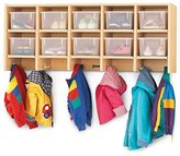 Jonti-Craft Coat Locker - Large Wall Mount With Clear Trays