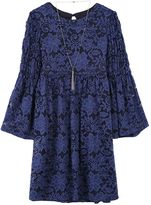 Speechless Girls 7-16 Bell Sleeve Lace Babydoll Dress with Necklace