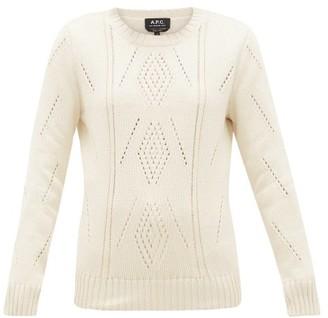 A.P.C. Lucrecia Pima-cotton Sweater - Ivory