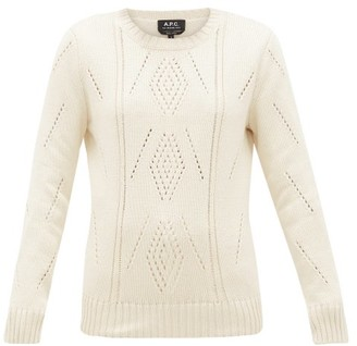 A.P.C. Lucrecia Pima-cotton Sweater - Womens - Ivory