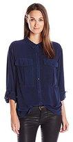 Calvin Klein Women's Garmet Dye Utility Shirt with D-Rings
