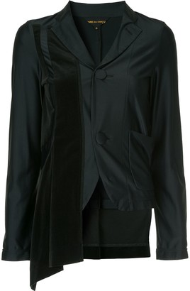Comme des Garcons Pre-Owned asymmetric fitted blazer