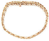 Designer Yellow Gold 10kt Wrapped In Love Diamond Tennis Bracelet