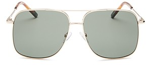 Le Specs Luxe Men's Equilateral Brow Bar Aviator Sunglasses, 58mm