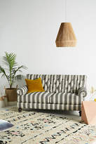 Anthropologie Suren-Striped Fan Pleat Sofa