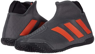 adidas Stycon M (Grey Six/True Orange/Core BLack) Men's Tennis Shoes