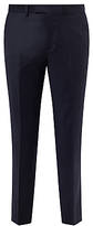 John Lewis Super 120s Wool Stripe Tailored Fit Suit Trousers, Navy