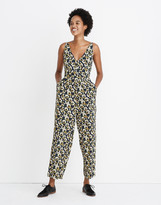 Madewell V-Neck Sleeveless Jumpsuit in Viola Floral