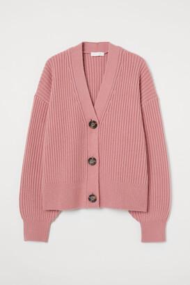 H&M Rib-knit Cardigan