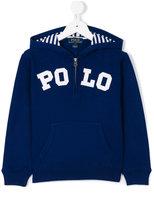 Ralph Lauren Polo logo hoodie - kids - Cotton/Polyester - 2 yrs