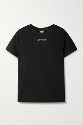 Calvin Klein Underwear - Printed Cotton-blend Jersey T-shirt - Black
