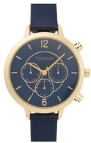 Topshop Women's Chronograph Leather Strap Watch, 35Mm