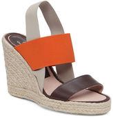 Delman Jamie Leather Espadrille Wedge Sandals
