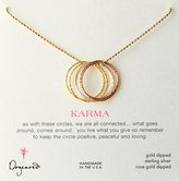 "Dogeared Sparkle Karma"" Medium Multi-Link Sparkle Karma Necklace"