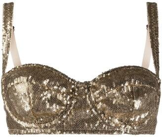 Dolce & Gabbana Sequinned Balconette Bra