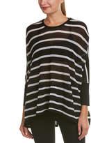 Blanc Noir Striped Drape Sweater