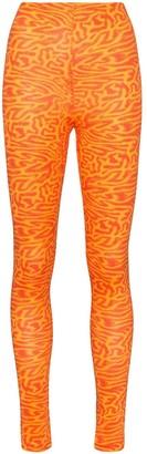 Maisie Wilen Oil spill print leggings