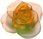Daum Rose Passion Orange/Green Flower