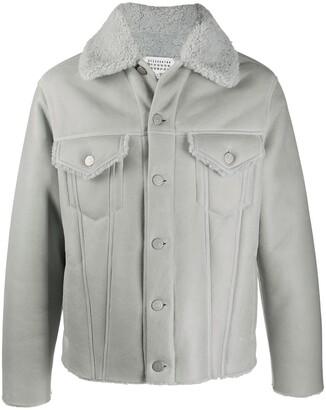 Maison Margiela Shearling Trimmed Buttoned Jacket