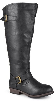 Brinley Co. Women's Extra Wide Calf Knee-high Studded Riding Boots