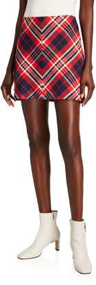 Trina Turk Hurst Plaid Mini Skirt