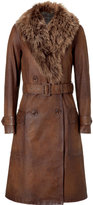 Polo Ralph Lauren Carriage brown shearling-lined Amershan coat
