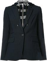 Veronica Beard layered hooded blazer - women - Spandex/Elastane/Virgin Wool - 2