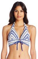 Robin Piccone Women's Danielle French Picnic Halter Bikini Top