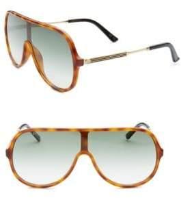 Gucci Avana Shield Aviator Sunglasses